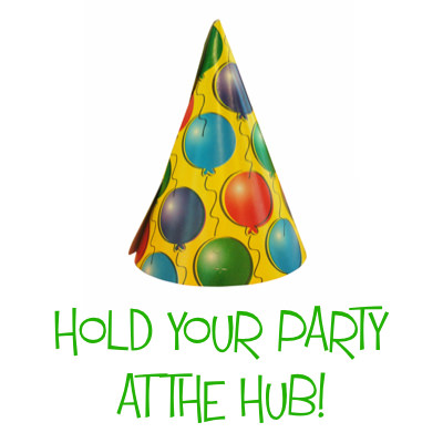 Hold Your Party at The Hub!