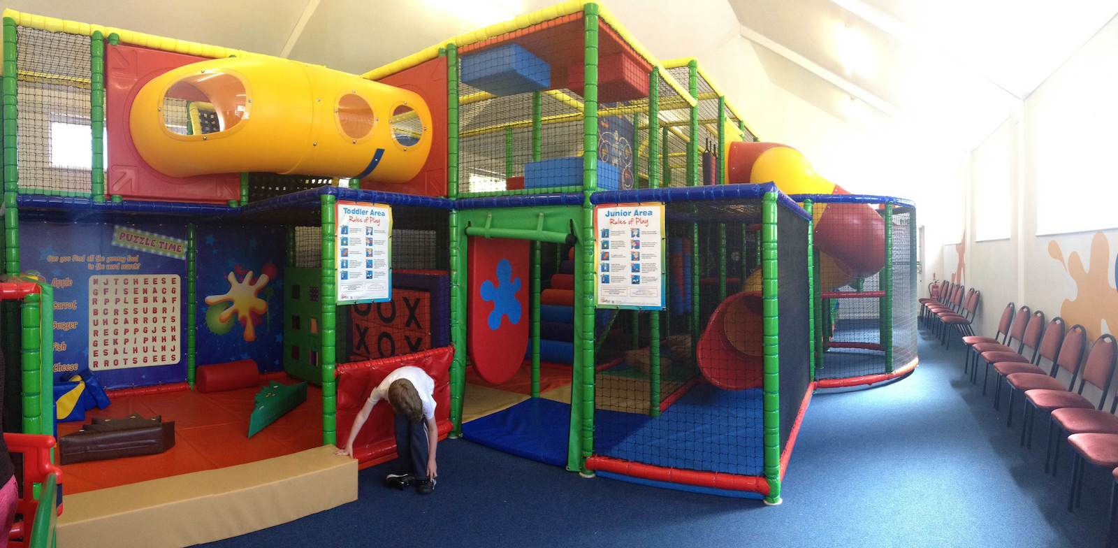 The soft play area the hub minehead for Inside play areas